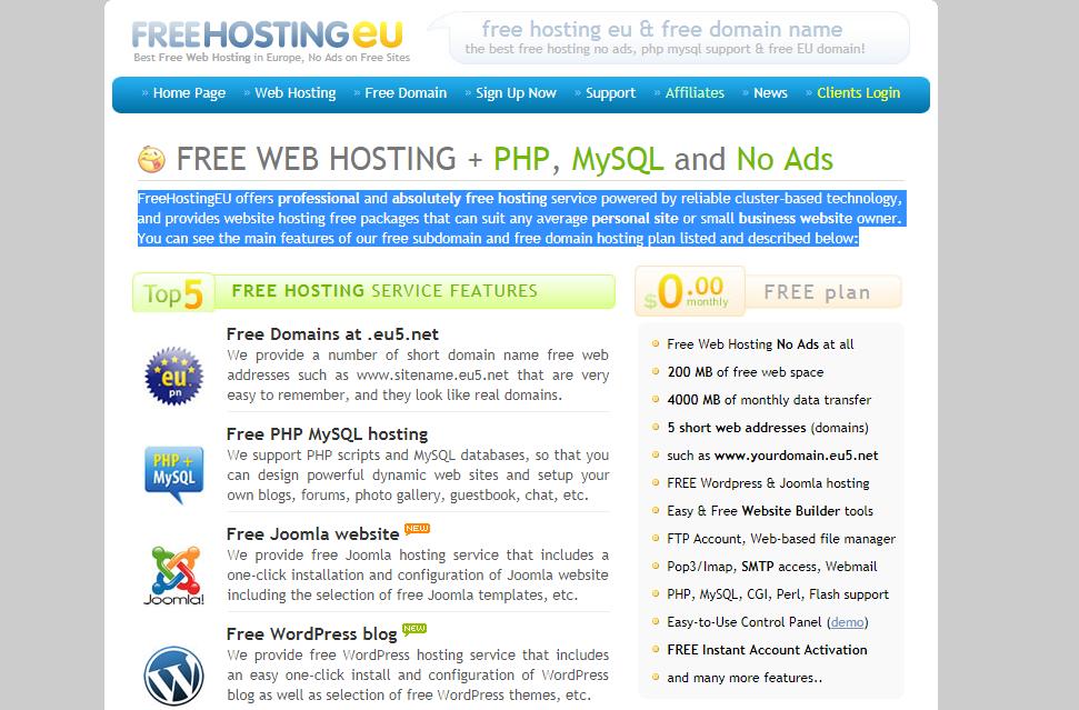 Top Free Hosting Service WordPress Blog शुरुआत करने के लिए