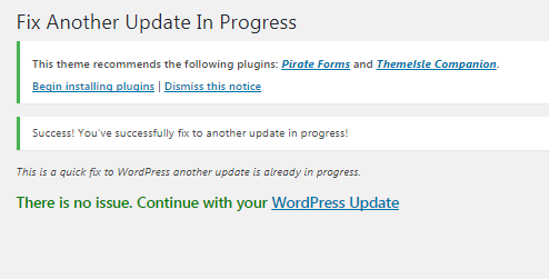 How to Fix 'Another Update in Process' Error in WordPress hindi