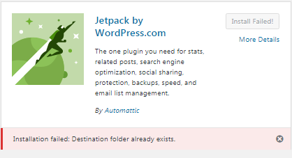 Fix Destination folder already exists
