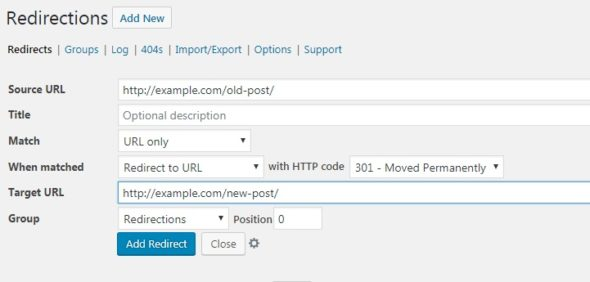 How to Create 301 redirect in WordPress site