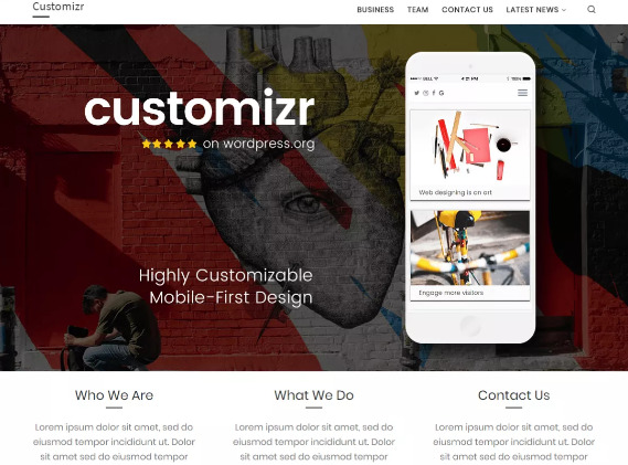 Best Free Responsive WordPress business themes हिंदी