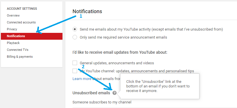 How to Stop YouTube New Subscriber Email Notification