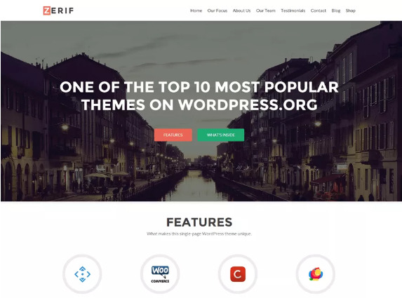 Zerif Lite Theme Review