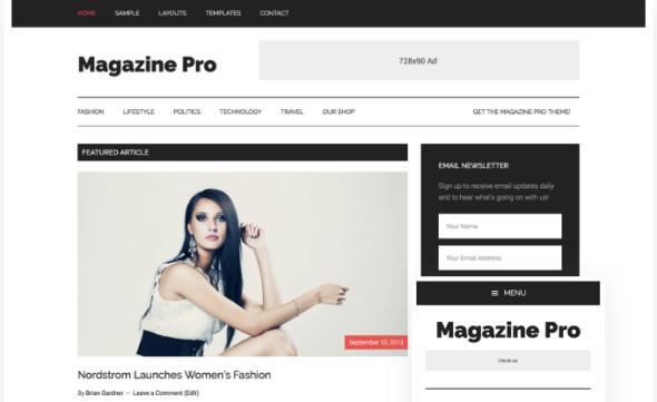 StudioPress Magazine Pro Review