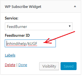 WordPress में FeedBurner Email Subscription Form Add करना