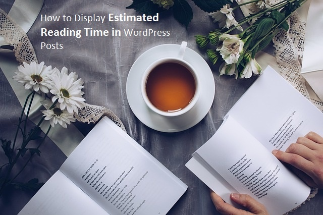 How to Display Estimated Reading Time in WordPress Posts