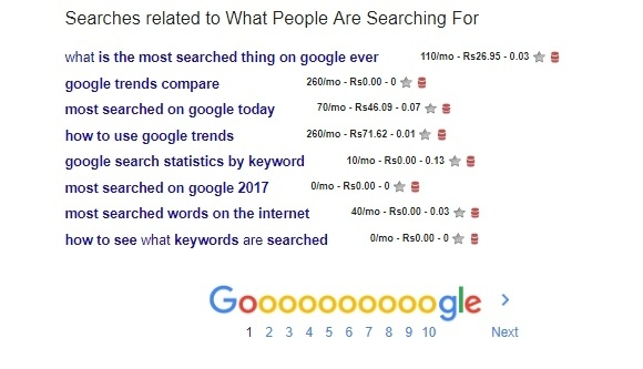 What People Are Searching For