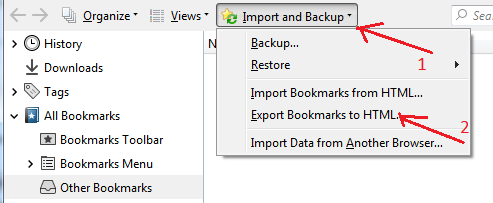 How to Import Bookmarks from Firefox to Chrome