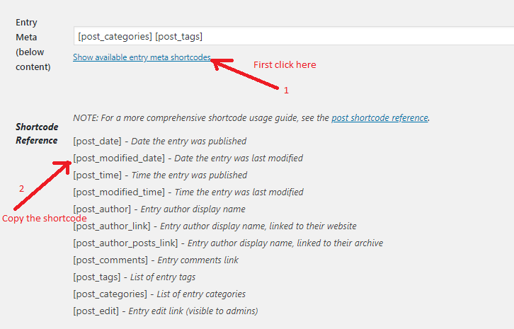 How To Show Last Modified Date On Blog Post Instead Of Published Date in Genesis Framework