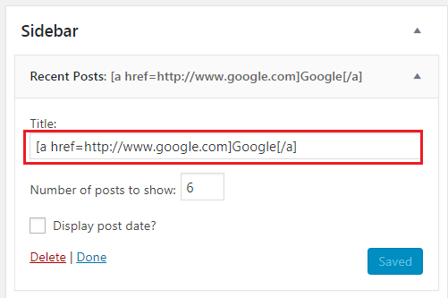 How to Add Link to WordPress Widget Titles