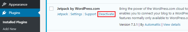 WordPress Plugin Ko Deactivate Kaise Kare