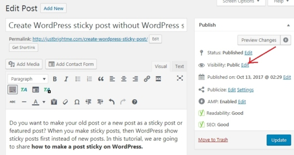 How to Make Post Sticky on WordPress without Plugin