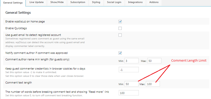 WordPress Website Me Comment Length Limit Set Kaise Kare