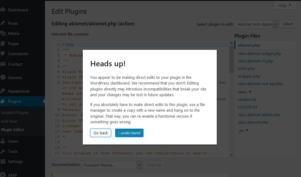 WordPress Admin Panel Me Theme and Plugin Editors Disable Kaise kare
