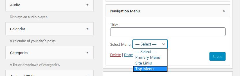 Adding WordPress Menus in Sidebars and Footers