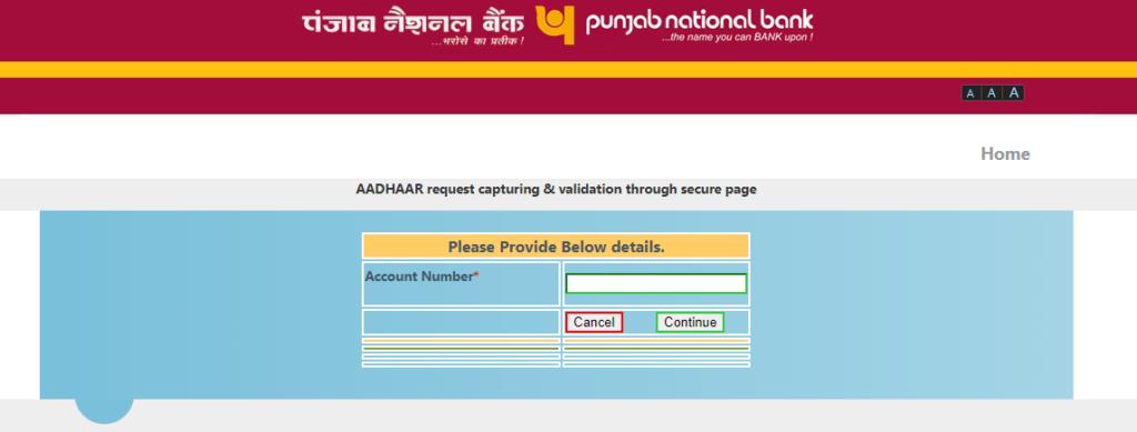 PNB Aadhar Link