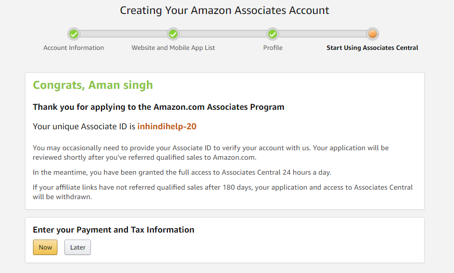 Amazon Affiliate Account Kaise Banaye