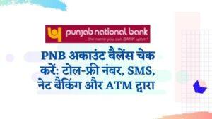 पंजाब नेशनल बैंक बैलेंस चेक